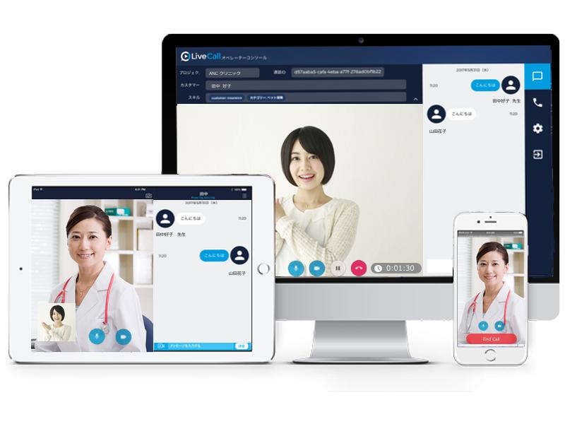 LiveCallヘルスケアはマルチデバイス対応